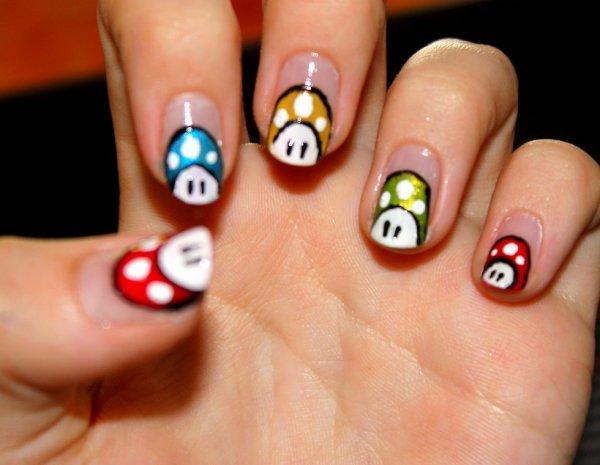 nail art toad