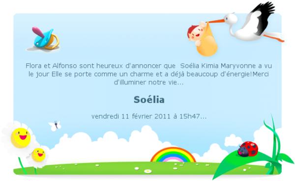 Soélia est née