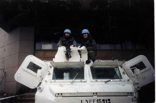 Casque bleu a sarajevo 1993.bosnie