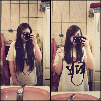 bye bye les cheveux long.. bonjour la mèche. (même si je sais qu'une coupe de cheveux ne me rendra pas plus heureuse.)