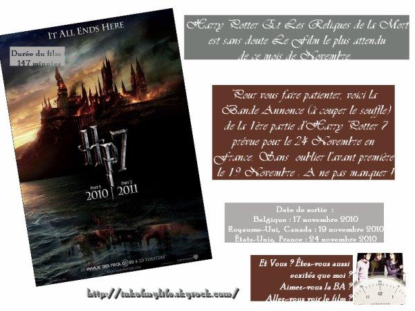 Harry Potter et Les Reliques de la Mort le Film