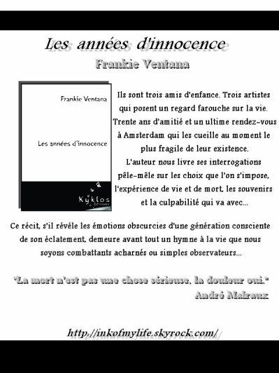 Les années d'innocence Frankie Ventana