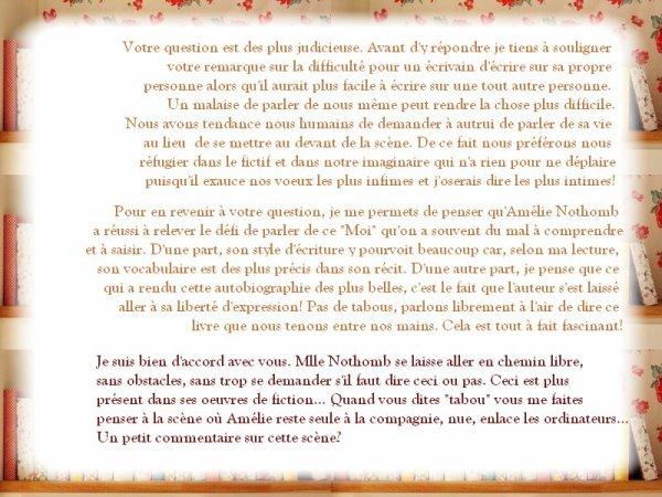 Stupeur & Tremblements, Amélie Nothomb
