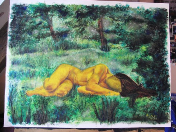 Le repos dans la forêt