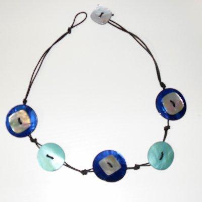 Collier bleu clair & bleu électrique :