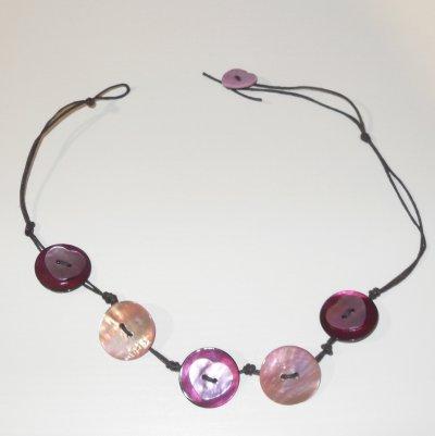 Collier Rose & Coeur violet :