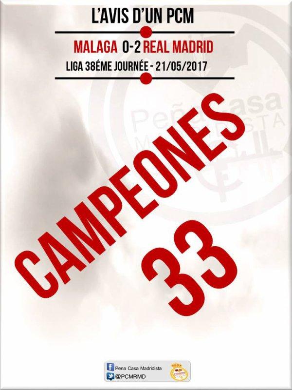 33 titres de la liga pour Madrid