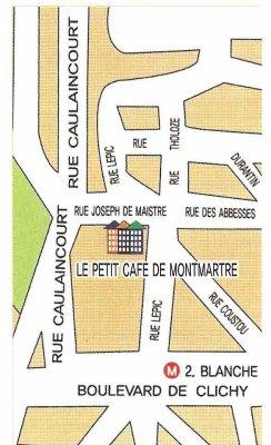 parce que ma vie c'est du cinéma et le petit café de Montmartre un formidable décor.