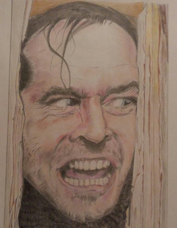 Jack Nicholson dans Shinning