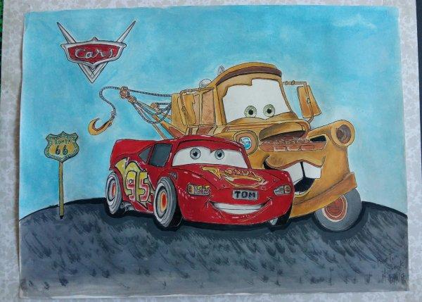Cars à la gouache