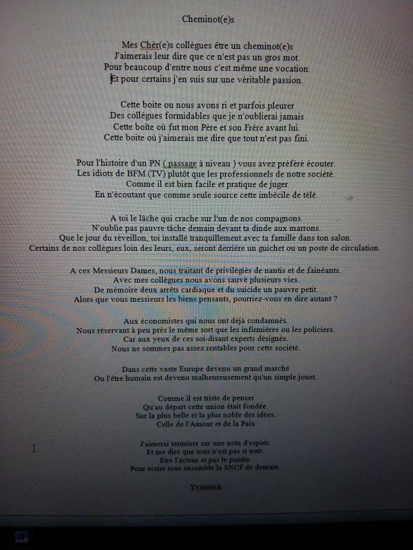 Long poème inspiré par les événements passés présents et à venir