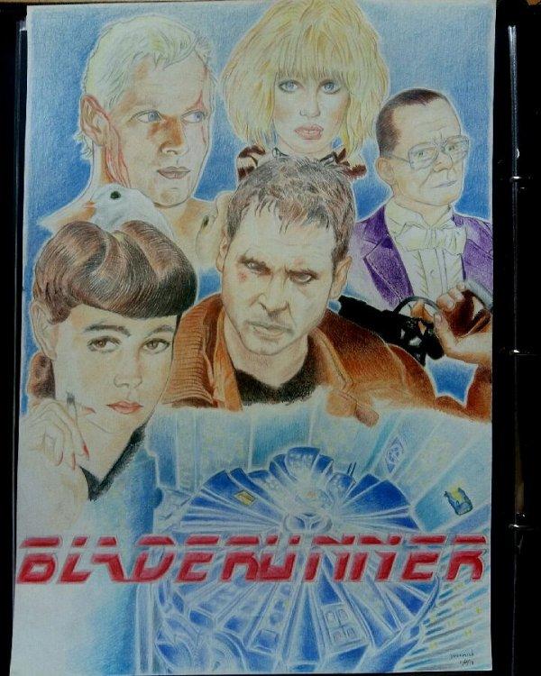 voilà c'est terminé ce fanart de Blade Runner