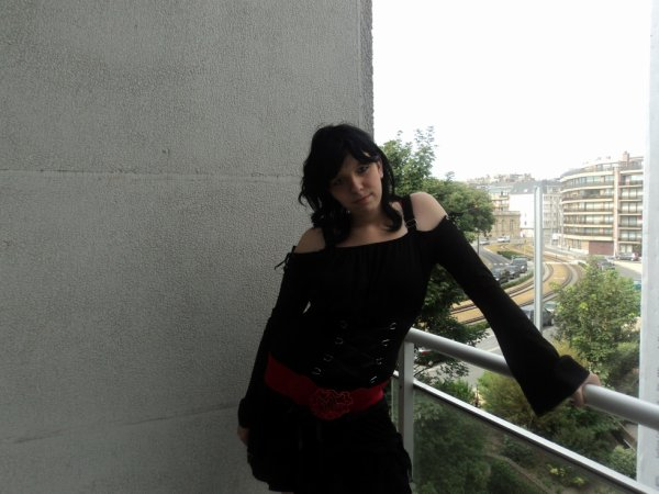 mwa sur le balcon de l'hotel ...