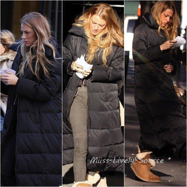 20 Octobre > Blake et Penn arrivant sur le tournage de Gossip Girl à New York + quelques photos en tenue de Serena...