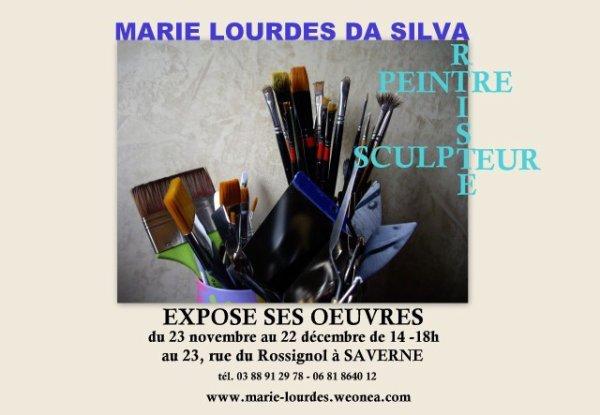 EXPOSITION INDIVIDUELLE DE PEINTURE & SCULPTURE-CERAMIQUE D'ART A L'ATELIER