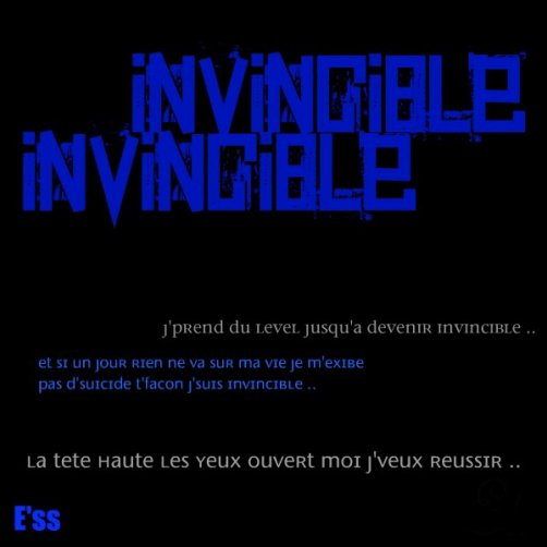 Nouveau son OFFICIEL ' Invincible ' . E'ss . (2011)
