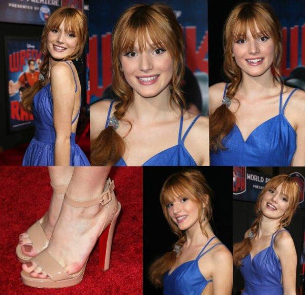 """Bella à la première du film Disney """"Wreck-It Ralph"""" le 29 octobre 2012."""