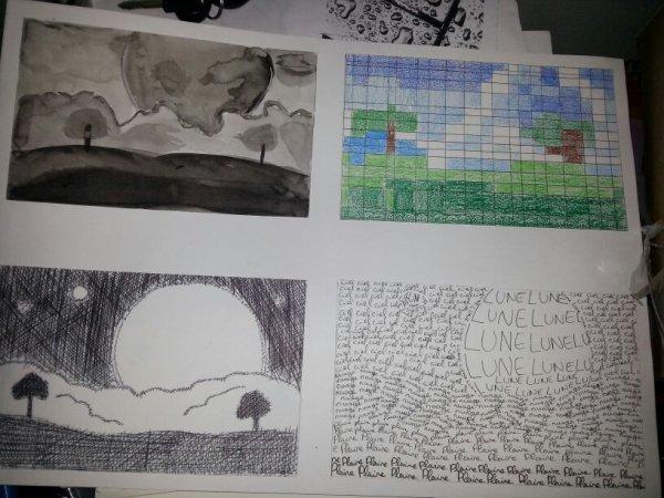 Design graphique - Première fois avec l'aquarelle