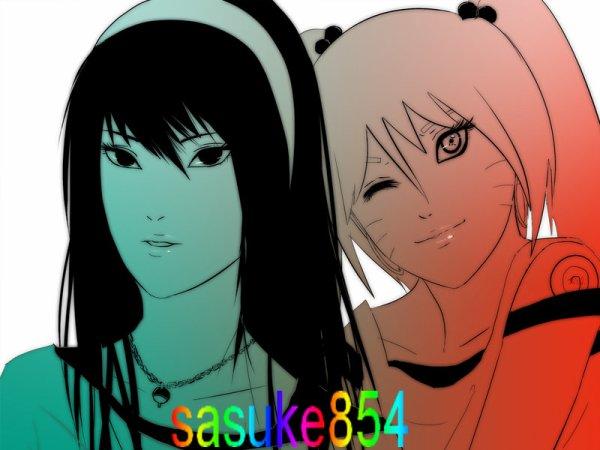 une fille clan uchiwa et l autre uzumaki