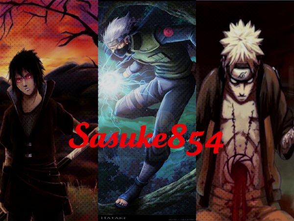 Sasuke, Kakashi, Naruto
