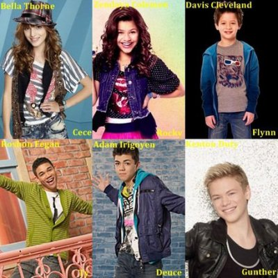 les personnage ( shake it up )