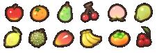 Les fruits, outils et minéraux