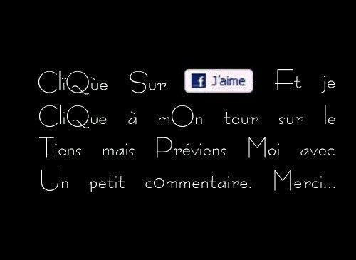 """CLIK SUR MON """"J'AIME"""""""