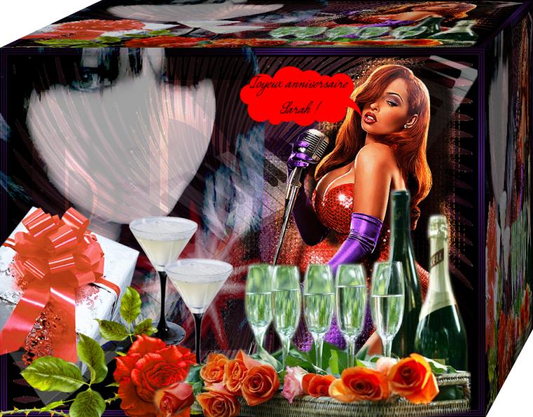 cadeaux pour ma fille sarah  joyeux  anniversaire mon coeur gros bisous je t aime