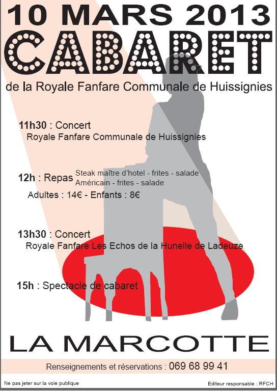 cabaret 2013 à la marcotte huissignies
