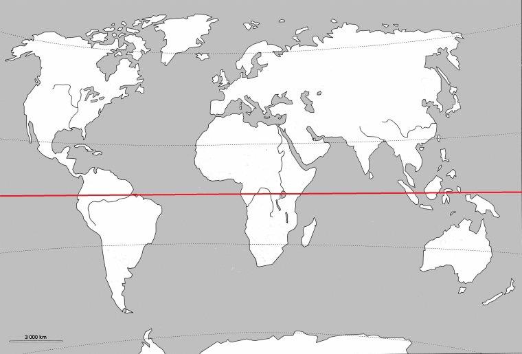 Quateur ligne quinoxiale astrophysique astronomie - Carte du monde en liege ...