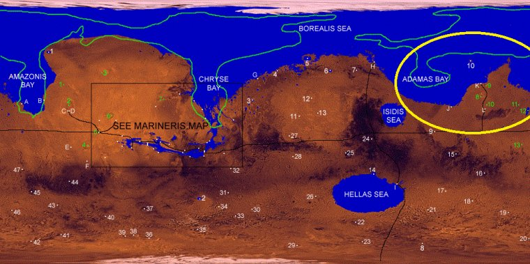 Mer glacée Martienne