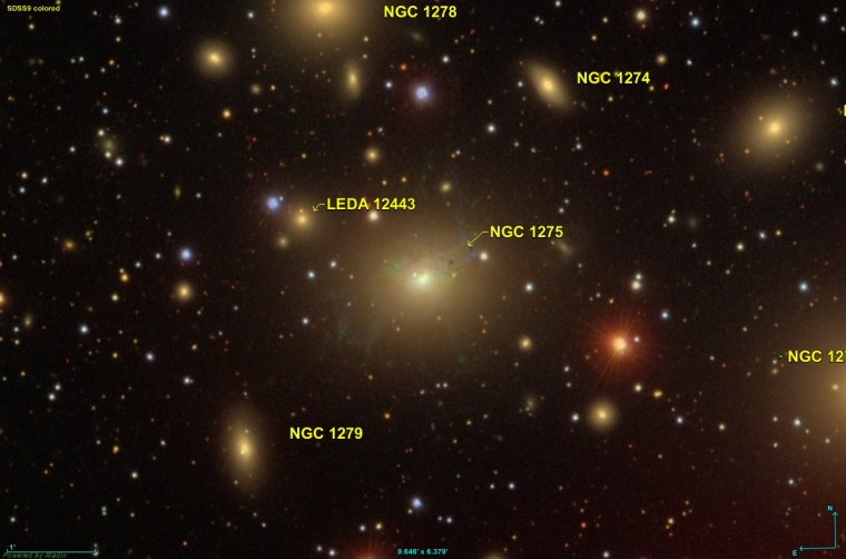 Galaxie active de Persée NGC 1275