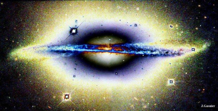 Galaxie spirale ESO 510-13 = Warped Spiral Galaxy ESO 510-13 = Galaxie de la Roue Voilée