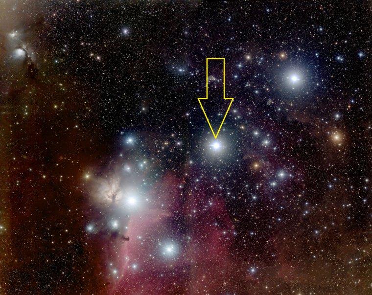 Alnilam = Epsilon Orionis = ε Ori = ε Orionis = 46 Orionis
