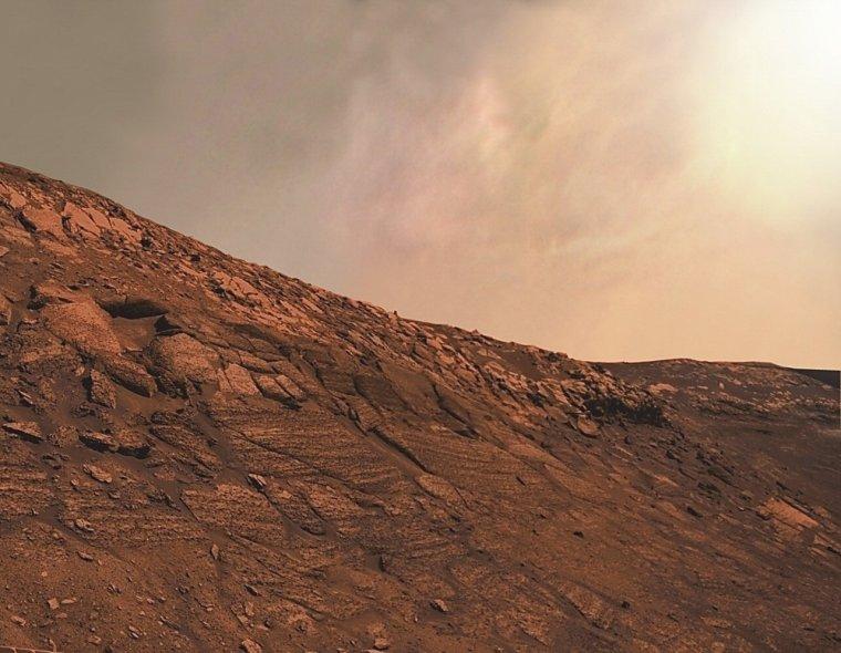 Rebords du cratère Endurance.