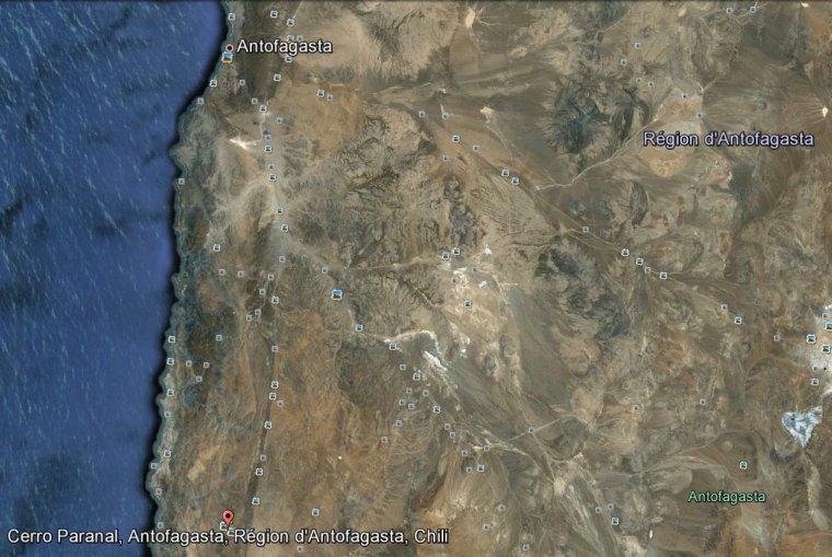Cerro Paranal de la région d'Antofagasta au nord du Chili
