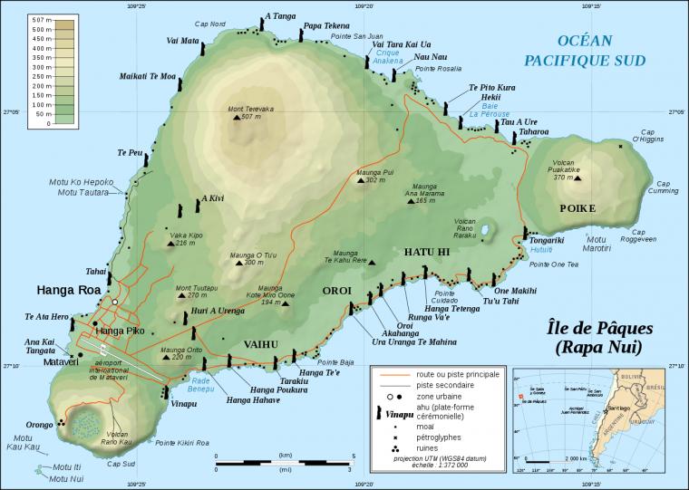 Îles de Pâques = Isla de Pascua = Rapa Nui = La grande Rapa