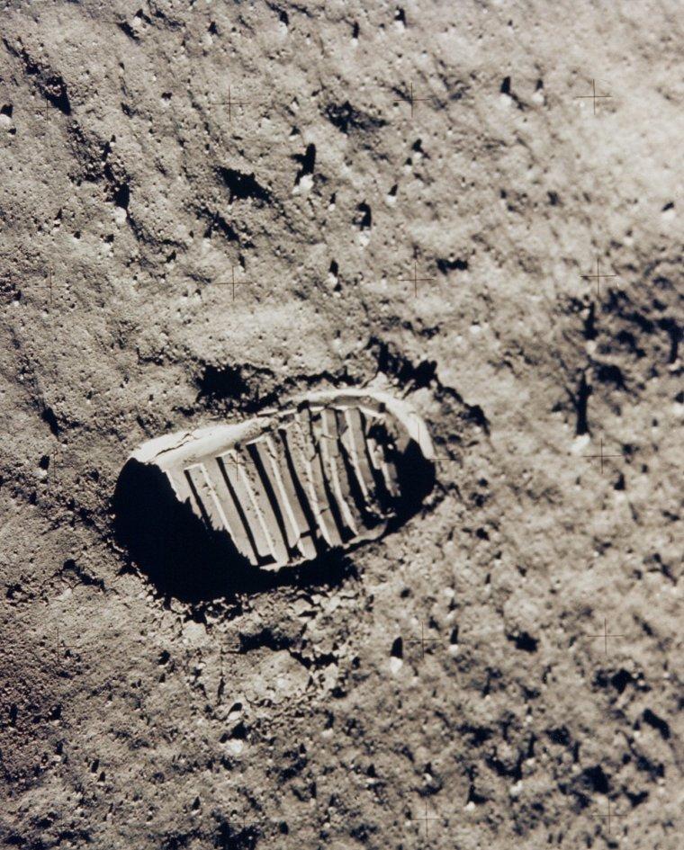 Empreinte de Neil Armstrong sur la Lune