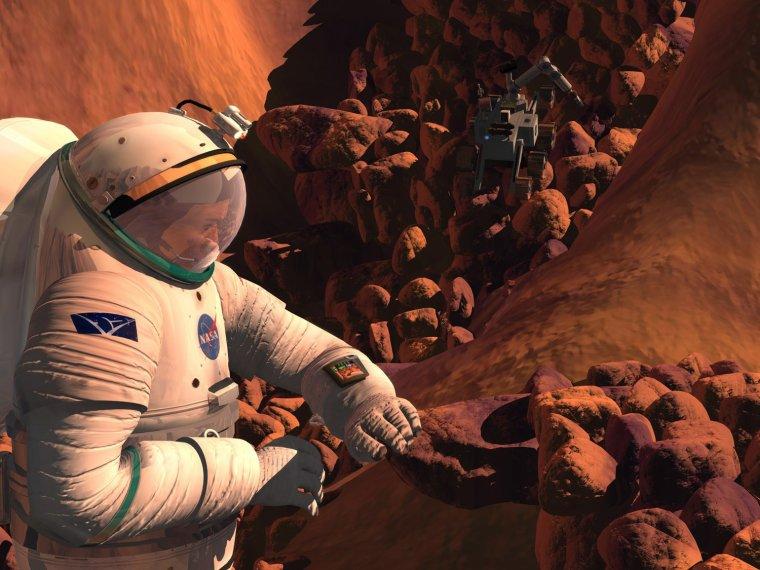 L'Homme sur la planète Mars