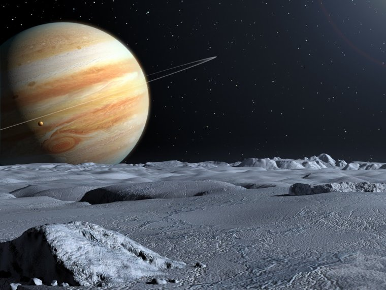 Exploration sur la lune jupiterienne : Europe