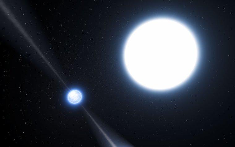 Étoile à neutron en orbite avec une naine blanche (Étoile binaire atypique)