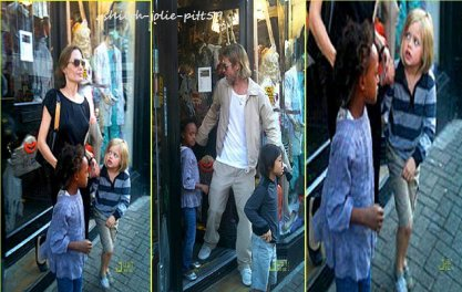 Le 29 septembre Angélina et Brad on été vu avec leur enfants Shiloh Pax et Zahara a  Kingston Upon Thames a Londre