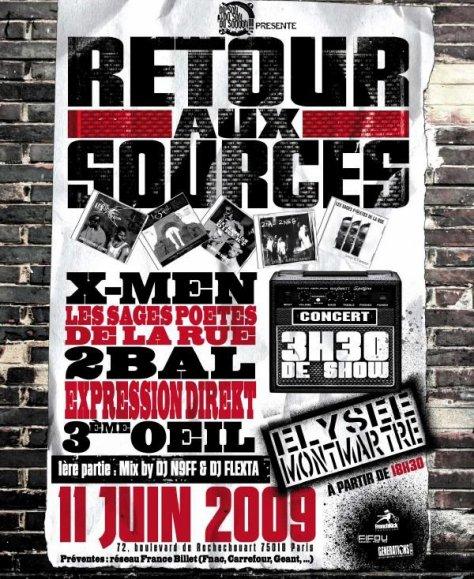 RETOUR AUX SOURCES LE 11 JUIN 2009 A L'ELYSEE-MONTMARTRE