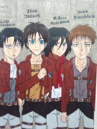 2014 - Shingeki no Kyojin : Eren/Levy/Mikasa/Jean