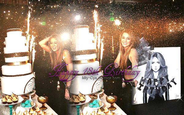 Il y a 18 ans, naîssait une jolie petite fille du nom de Destiny Hope, son sourire étais si beau, que l'on la surnomait Smiley, elle a grandit et elle a abréger son surnom en Miley que nous connaissons aujourd'hui, c'est devenu son nom de scène & de vie. Alors aujourd'hui, tes fans te souhaitent Happy Birthday !
