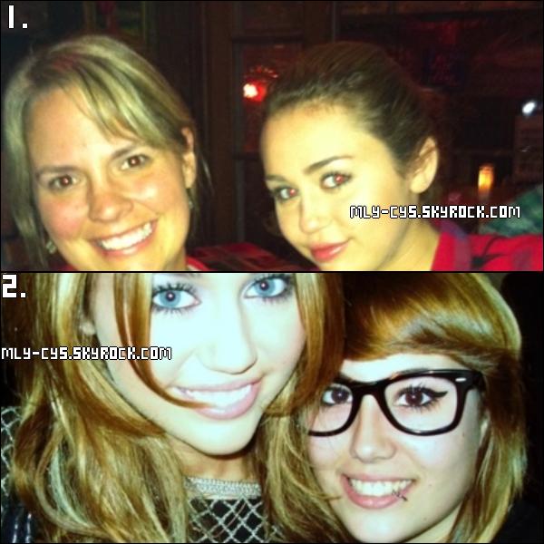 .   27 Janvier 2011 : » Une nouvelle photo de Miley avec une fan. Cette photo date d'hier 25 janvier, Miley dînait au restaurant Jaques-Imo à Nouvelle-Orléans lorsque la serveuse lui a demander de poser avec elle. (n°1) Elle affirme même que Miley a été impressionnée par sa manière de servir et desservir les tables le tout avec une seule main ! + Une photo (n°2)  avec une fan que j'ai loupé. :p (Photos 1) . » Pendant qu'elle dînait, sa s½ur Brandi a fait un live chat sur internet et a décidé d'appeler Miley suite à une importante demande de la part des fans. Après une tentative ratée qui s'est terminée sur le répondeur, Miley a rappelé Brandi et en a profité pour dire un petit mot à ses fans. On ne comprend pas bien ce que dit Miley. Vous pouvez voir la vidéo en cliquant sur la 2ème image ! + » Miley a posté une nouvelle vidéo pour ses fans sur MileyWorld, je vous propose de la retrouver ci-dessous avec sa traduction. (Clique sur l'image pour voir la vidéo!) » Toujours concernant « So Undercover », vous pouvez visionner en cliquant là une vidéo du tournage datant du 26 janvier. .