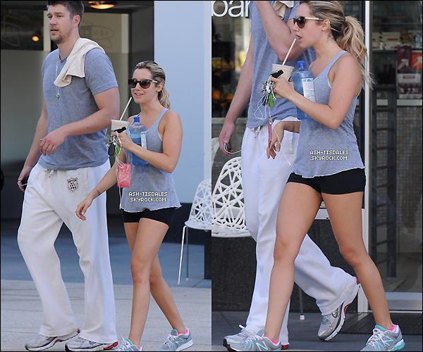 . 17/06/12 : Ashley M. Tisdale & Scott ont été aperçus quittant le cours « d'Equinox » à West Hollywood !.