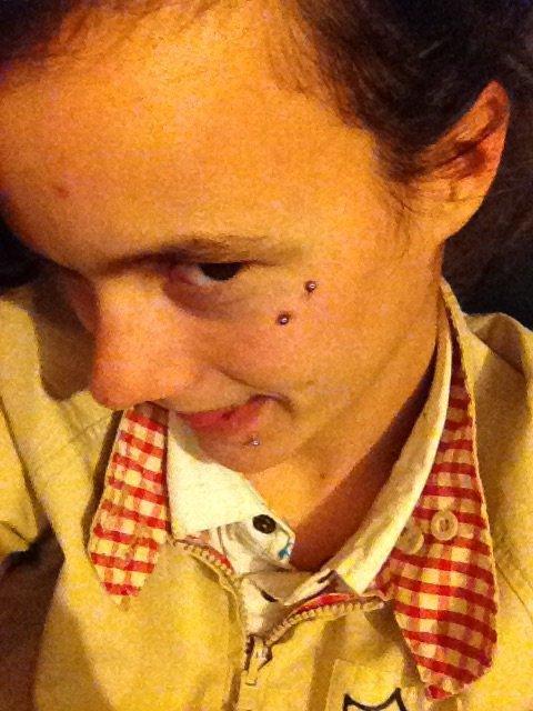 Nouveau piercing fais mardi trop fan