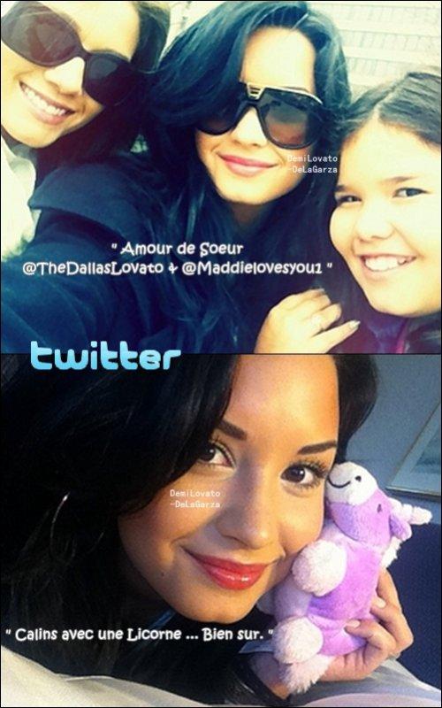 Demi Lovato et sa famille à Chicago, U.S.A pour faire un petit coucou a Lauren Martin.