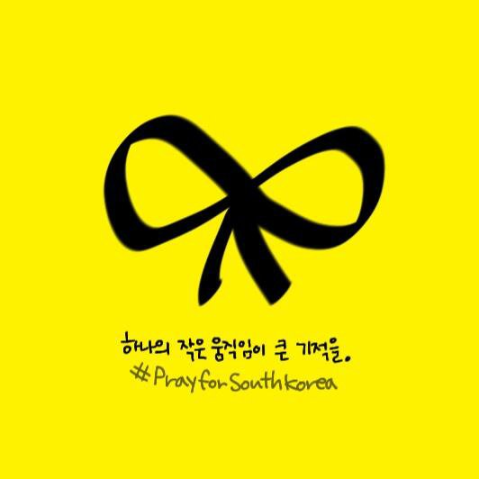 """La campagne """"Yellow Ribbon"""" se répand sur les réseaux sociaux pour soutenir les victimes du """"Sewol"""""""